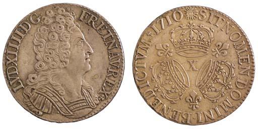 Louis XIV, Écu aux trois couro