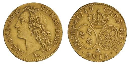 Louis XV, Louis d'or au bandea