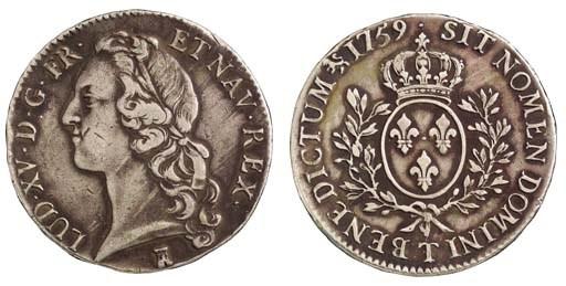 Louis XV, Écu au bandeau, 1759
