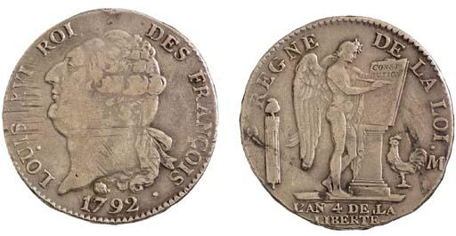 Louis XVI, Écu aux lauriers, 1