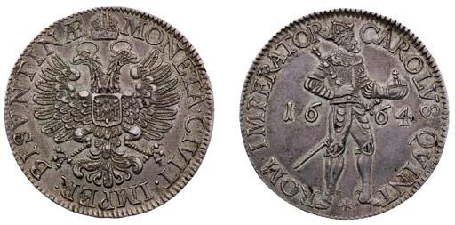 Besançon, Taler, 1664, crowned