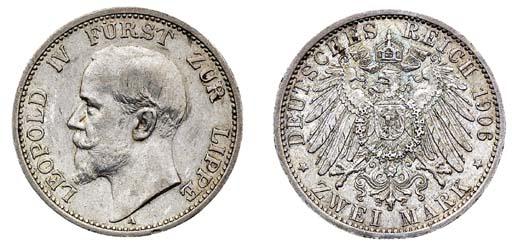 Lippe, Leopold IV, 2-Mark, 190