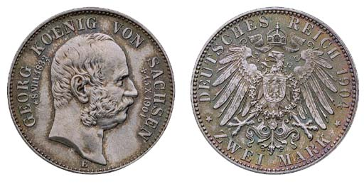Saxony, Georg (1902-4), 2-Mark