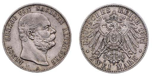 Saxe-Altenburg, Ernst, 2-Mark,