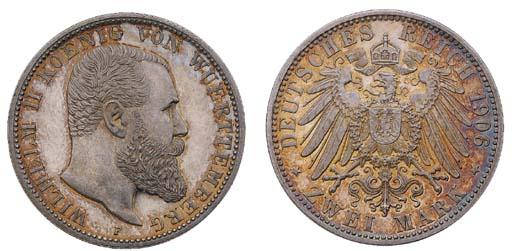 Württemberg, Wilhelm II, proof