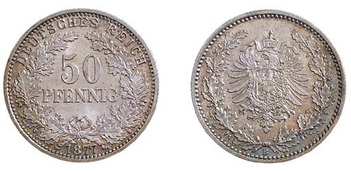 Empire, 50-Pfennig, 1877 B (J.