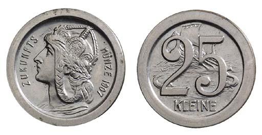Empire, pattern 25-Pfennig, 19