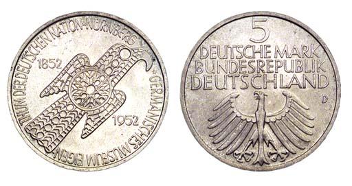 Federal Republic, 5-Mark, 1952