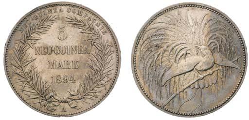 German New Guinea, 5-Mark, 189