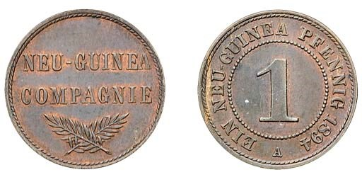 German New Guinea, copper 1-Pf
