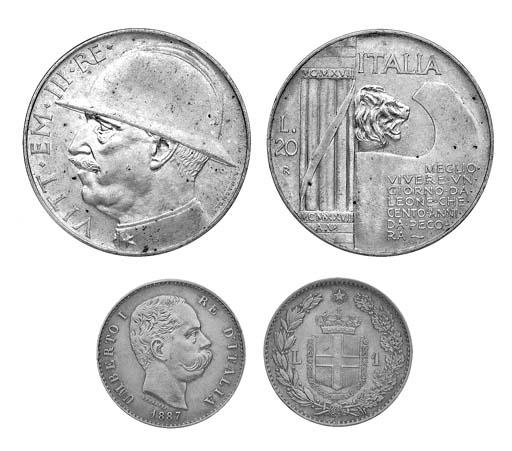 Italy, Kingdom, Umberto I, 1-L