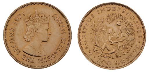 Mauritius, Elizabeth II, gold