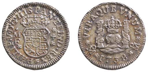 Mexico, Philip V (1700-46), ½-
