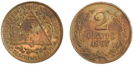 Nicaragua, copper pattern 2-Ce