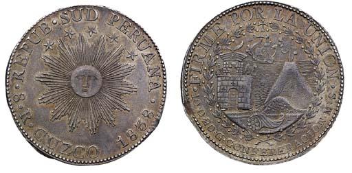 South Peru, 8-Reales, 1838 MS,