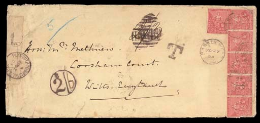 cover 1885 (29 Mar.) envelope