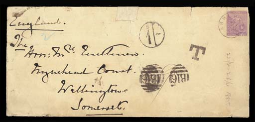 cover 1885 (3 May) envelope ex