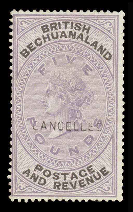 Cancelled  1d. to £5 set of tw