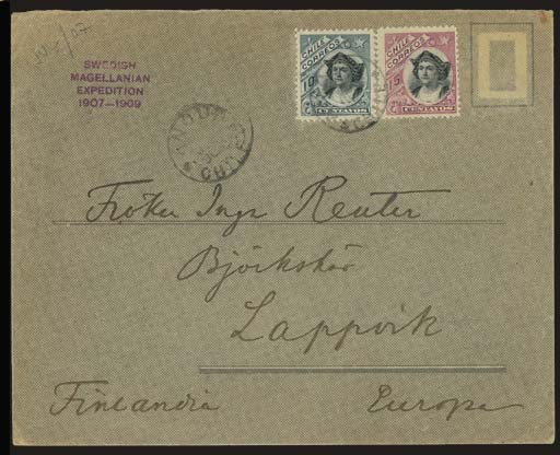 cover 1908 envelope to Lappvik