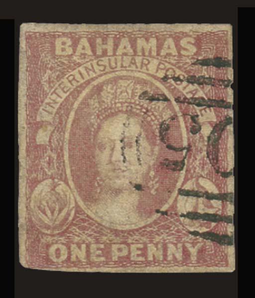 used  1859 medium paper, 1d. b