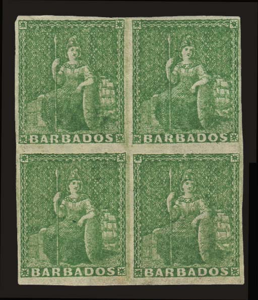 unused Block of Four  1861-70
