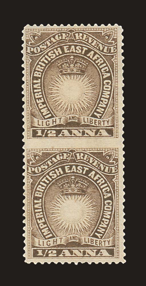 unused  1890-95 ½a. dull brown