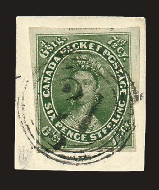 on piece  7½d. yellow-green wi