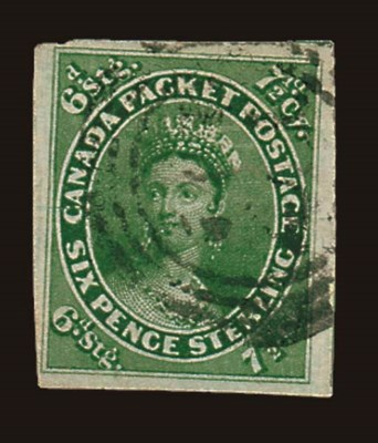 used  7½d. yellow-green on med