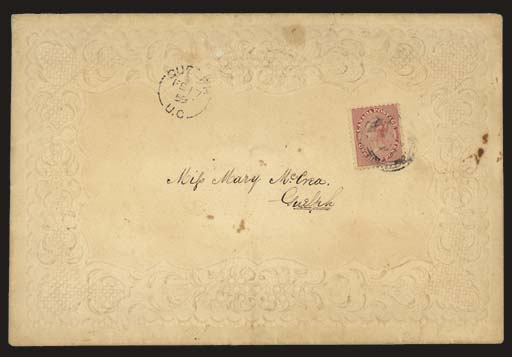 cover ½d. deep rose, on a beau