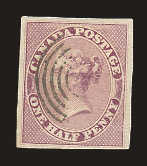 used  ½d. rose with good margi