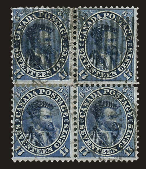 used Block of Four  17c. deep
