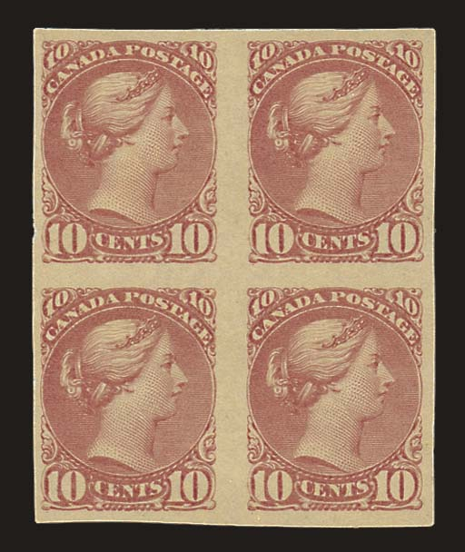unused Block of Four  10c. bro