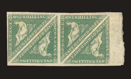 unused Block of Four  1/- brig