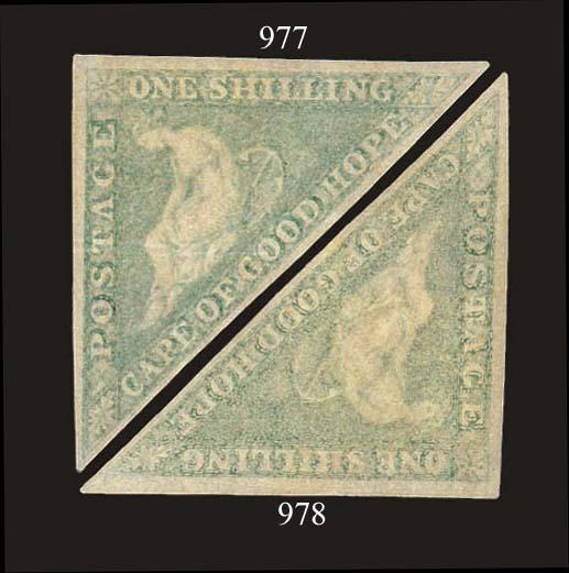 unused  1/- pale emerald-green
