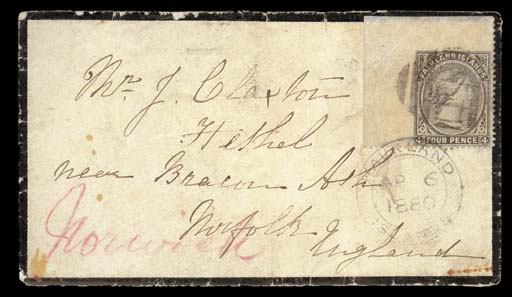 cover 1880 (6 Apr.) mourning e