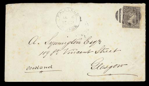 cover 1883 (6 Jan.) envelope t