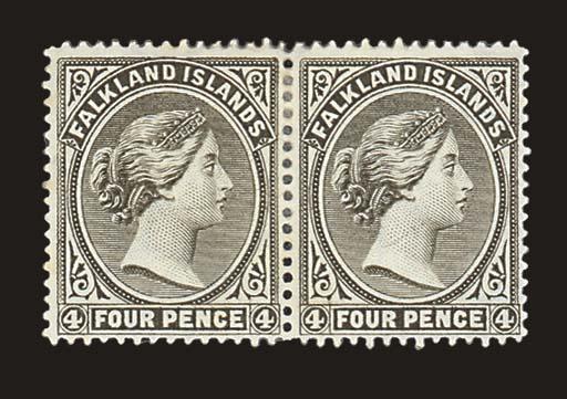 unused  1889-91 4d. olive-grey