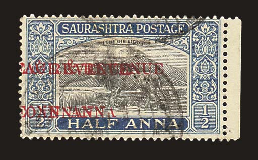 used  1949 1a. on ½a. black an