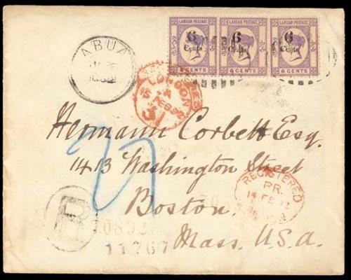 cover 1892 (Jan.) envelope reg