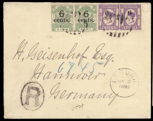 cover 1892 (5 Jan.) envelope r