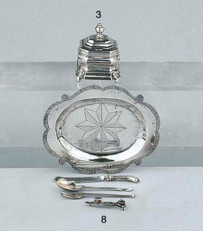 A Dutch silver miniature tray,