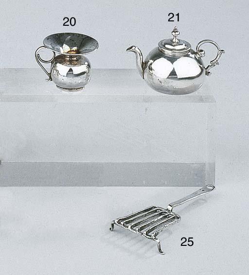 A Dutch silver minatur teapot