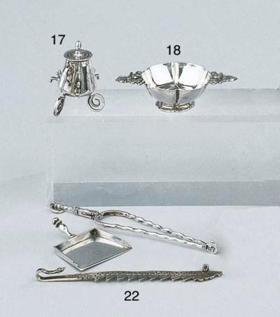 A pair of Dutch silver minatur