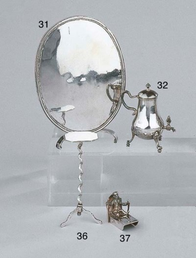 A Dutch silver miniature