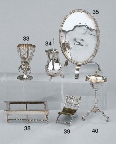 A Dutch silver miniature foldi