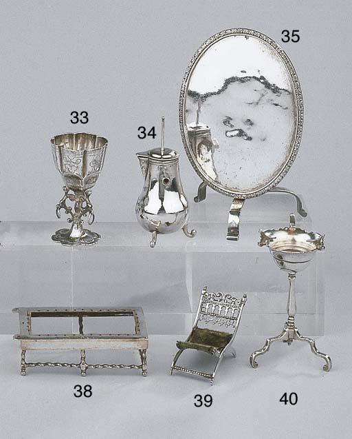 A Dutch silver miniature brazi