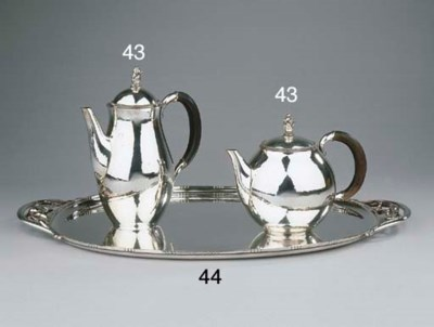 A Danish silver coffee pot and