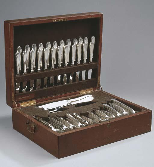 An American silver flatware se
