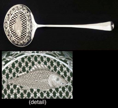 A Dutch silver fish-slice