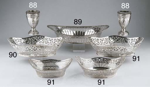 Three various silver breadbask